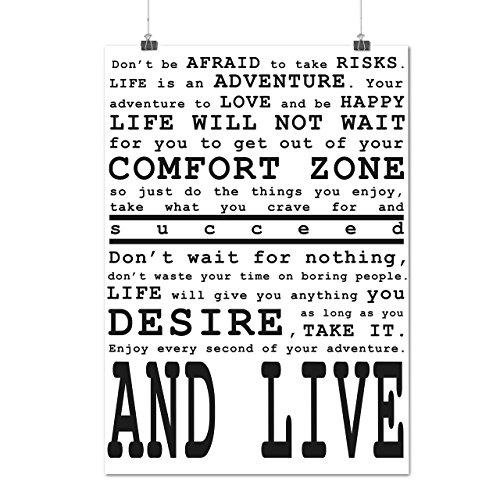 Motivational Slogan Words Art Matte/Glossy Poster A2 (17x24 inches)   Wellcoda