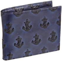 Jack Spade Embossed Anchor Bill Holder, Navy, One Size