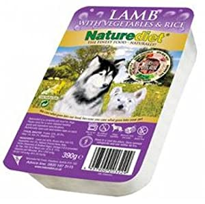 Naturediet Dog Food Lamb 390 g (Pack of 18) by Naturediet