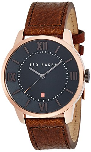 Ted Baker Three-Hand Leather - Brown Men's watch #TE1119