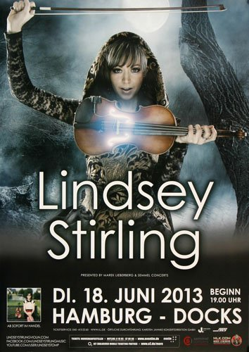 Lindsey Stirling - Crystallize HH 2013 - Concert Poster Plakat (Crystallize Lindsey Stirling compare prices)