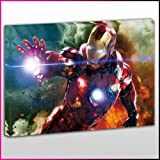 M103 Iron Man Robert Downey Jr Action Framed Ready To Hang Canvas Print, TV and Movies, Pop Street Wall Art, Picture