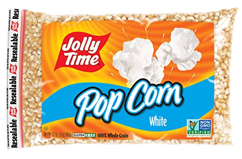 Jolly Time White Popcorn Kernels - Bulk Stovetop Natural Popping Corn, 2 lb. Bags (Pack of 12) (Popcorn Jolly Time compare prices)