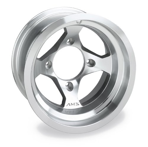 AMS Machined Cast Aluminum Rear Wheel - 12x7, 4/137, 4+3 , Material: Aluminum 0021270E-MACH