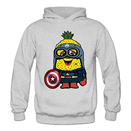 XJBD Women's Pineapple Geek Hooded Sweatshirt Ash Size M (Oversize Crock Pot compare prices)