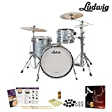 Ludwig USA Classic Maple 3 Pc Drum Kit in Sky Blue Pearl (L8303AX52WC) Includes Zildjian A390 Cymbal