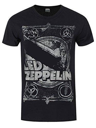 Led Zeppelin -  T-shirt - Stampa  - Uomo Black L/ 102 cm- 107 cm