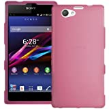Pink XYLO-GEL Hydro Skin / Case / Cover & ClearICE Screen Protector for the Sony Xperia Z1 Compact Mobile Phone