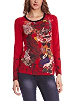 SIDECAR Camiseta Manga Larga Aitana (Rojo)