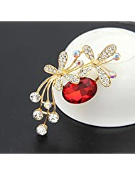 Swarovski Elements Austria Crystals And Rhinestone Luxury Collection Brooches For Women By Ananth Jewels