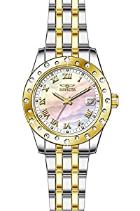 Invicta Women's 17489 Angel Quartz 3 Hand White Dial Watch