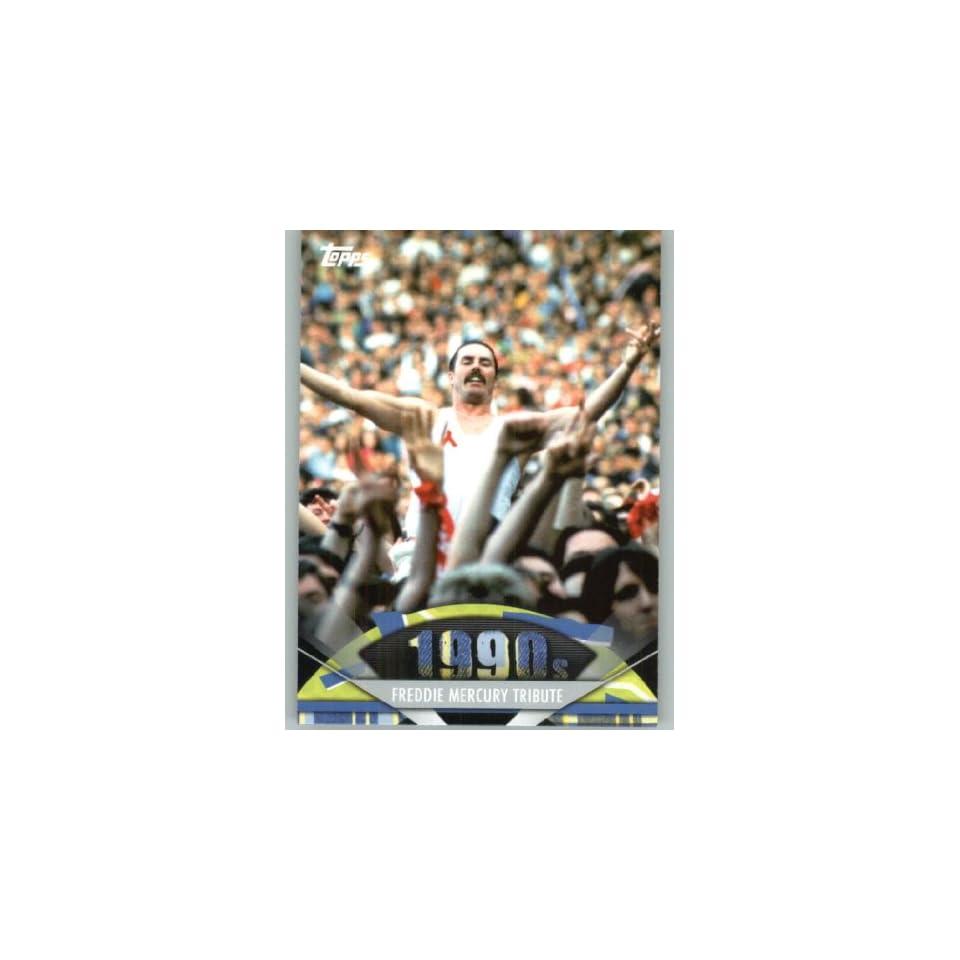 2011 American Pie #166 Freddie Mercury Tribute   A Celebration of American Pop Culture   Trading Card in a Screwdown Case