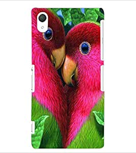 ColourCraft Love Birds Design Back Case Cover for SONY XPERIA Z2