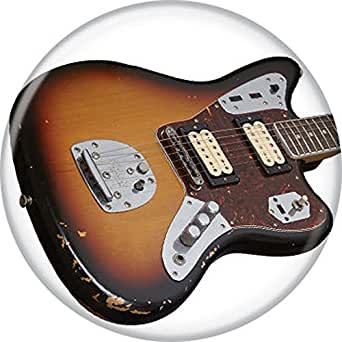fender guitars jaguar humbucker pinback button clothing. Black Bedroom Furniture Sets. Home Design Ideas