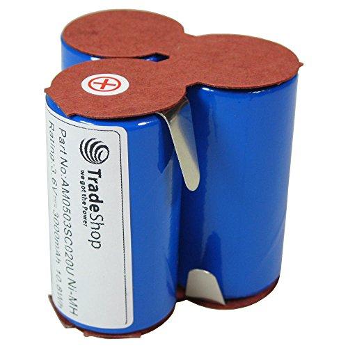 Hochleistungs Ni-MH Akku 3,6V / 3000mAh für AEG Electrolux Staubsauger Junior 2.0 Type 141 Handstaubsauger Akkusauger Handsauger Akku-Staubsauger (Rohzellen zum Selbsteinbau)