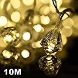 Amazlab-T10DW-10-meter33-feet-Warm-White-Diamond-Micro-LED-String-Lights-100-LED-Bulbs-Indoor-Outdoor-Decorative-Lights-DC-Powered