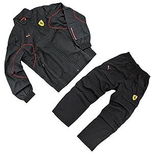 Puma Ferrari SF Woven Suit Sportanzug Trainingsanzug Gr. M Herren schwarz