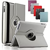 KEVENZ Apple iPad Cases and Covers for iPad 2 / iPad 3 / iPad 4 Case Cover leather 360 Rotating Stand- White - K401