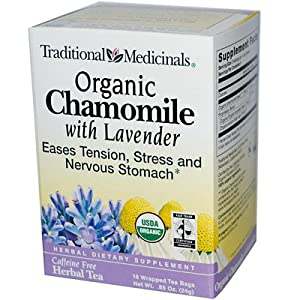 Traditional Medicinals Herbal Tea Organic Chamomile with Lavender -- 16 Tea Bags Each / Pack of 2