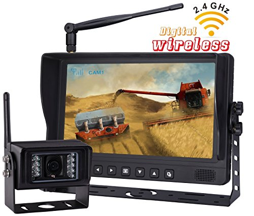 Xiqi 9 Inch Wireless Car Vechile Rearview Backup Back Up