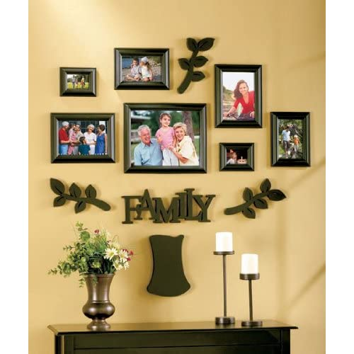 family tree wall photo frame set other products. Black Bedroom Furniture Sets. Home Design Ideas
