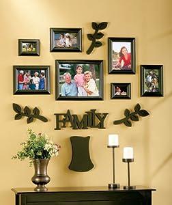 family tree frame set 12 pieces black picture frame sets. Black Bedroom Furniture Sets. Home Design Ideas