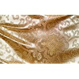 Chinese Brocade Satin Fabric (Buddhist Lotus) (See Seller Page for Color Choice)
