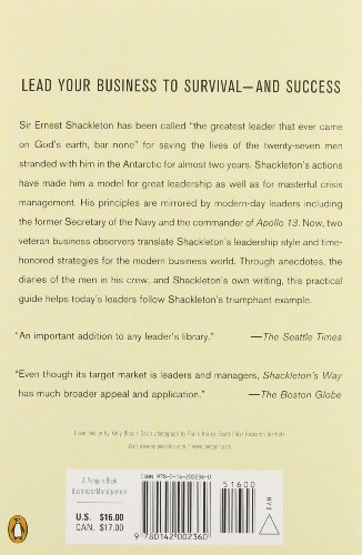 the four values that made ernest shackleton a great leader The paperback of the shackleton's way: leadership lessons from the great antarctic despite the fact that shackleton had made a good many of the contributions logged margot morrell and stephanie capparrell present a strong case that sir ernest shackleton was indeed a great leader.