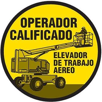 Safety Training Labels - Operador Calificado Elevador De Trabajo Aereo
