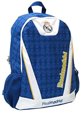 BEAUTIFUL (!!) Official Licensed Genuine FC Real Madrid Double Fill High Quality PREMIUM Backpack - Licensed Real Madrid Merchandise & New with Tags