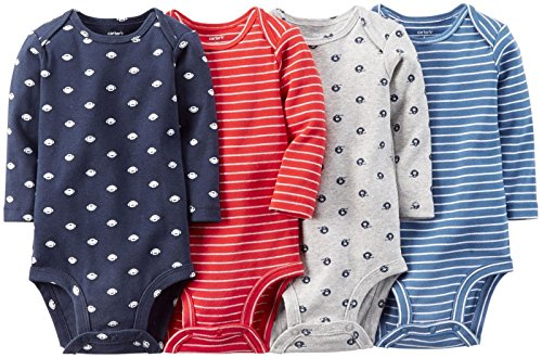 Carter's Baby Boys' 4 Pack Sport Bodysuits (Baby) - Navy - 12M
