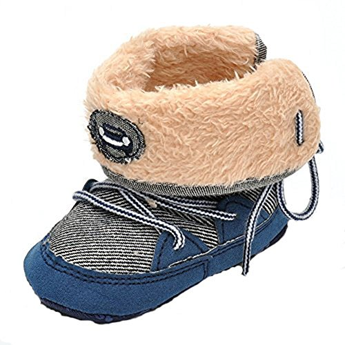 Infant Warm Winter Boots Navy US 3