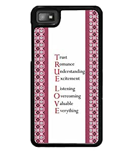 PrintVisa Quotes Designer Back Case Cover for BlackBerry Z10 -D4889
