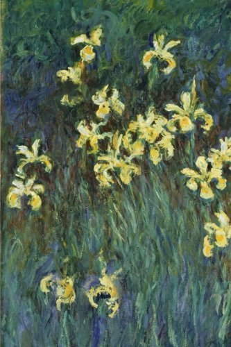 yellow-irises-claude-monet-journal-notebook-composition-book-160-lined-ruled-pages-6x9-inch-1524-x-2