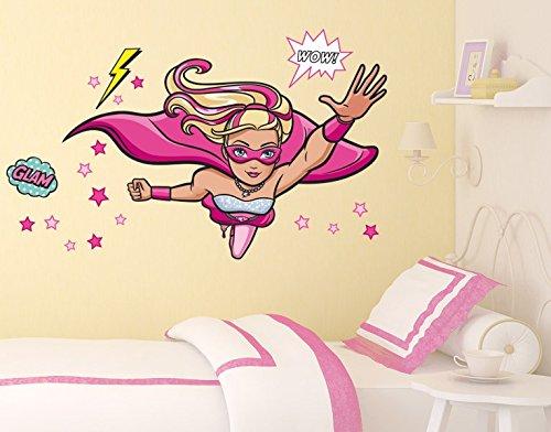 Klebefieber DS 1025-B Wandtattoo Barbie Supergirl B x H: 100cm x 71cm (erhältlich in 9 Größen) günstig kaufen