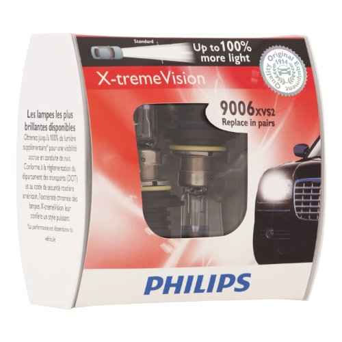 Philips 9006Xvs2 X-Treme Vision Headlight Bulb, (Pack Of 2)