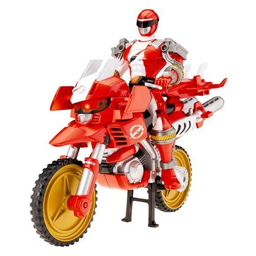 Power Rangers Operation Overdrive Trans-Cycle with Power Ranger - ZordTek with Red Ranger
