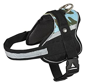 Doggles Apex Dog Harness Blue Camouflage, Large