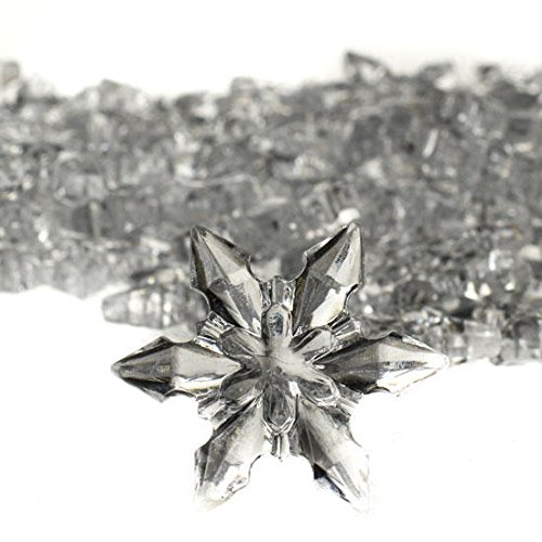 Approximately 180 Small Acrylic Snowflakes for Winter Weddings, Holiday Party Favors or Christmas Decorating Approximately 120 Pieces