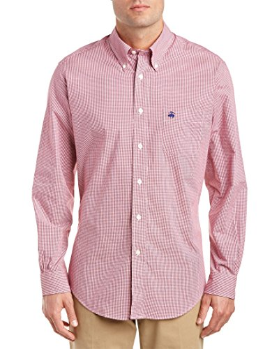 brooks-brothers-mens-regent-slim-fit-woven-shirt-l-red