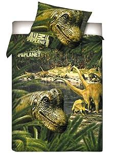 animal planet dinosaure jungle housse de couette coton. Black Bedroom Furniture Sets. Home Design Ideas