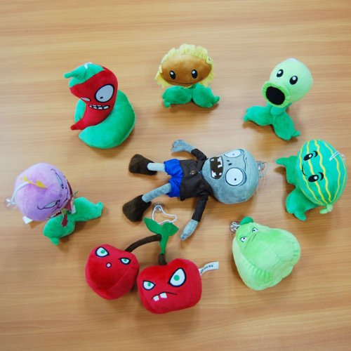 Plants vs. Zombies Stuffed Plush Toy Pack ?8-Piece Set? [Toy]