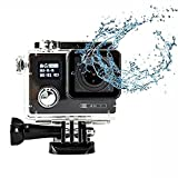 DMYTC F88 4K アクションカメラ WIFI搭載 SONY IMX078センサー付き 30M防水 スポーツカメラ(ブラック)