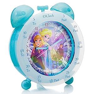 FROZEN - Reloj de mesa para enseñar a los niños la hora marca Zeon Ltd