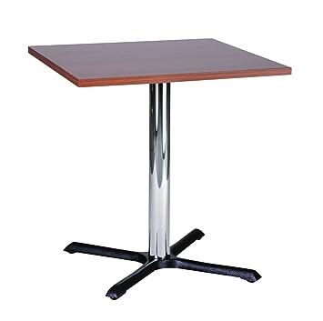 Roza noce 50cm Square Compact piccola cucina tavolo da pranzo, base cromata