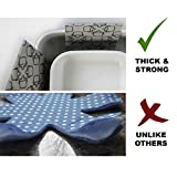 Pot & Pan Protectors - Set of 6 by Ecowares - Large 16 Inches Wide - Gray Print - Luxury Divider Pads to Prevent Scratching, Separate and Protect Surfaces of Your Cookware - for Home and RV