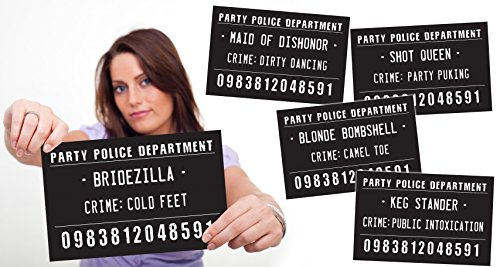 Bachelorette Party, Girls Night Out Mug Shot Signs – 20 Hilarious Signs