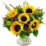 Clare Florist Radiant Sunflower Surprise Fresh Flower Bouquet