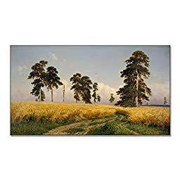 Ivan Shishkin A Rye Field 1878 Original Landscapes Oil Painting Reproduction on Gallery Wrapped Canvas 30X17 inch