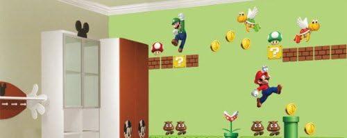 スーパーマリオブラザーズ 子ども部屋の背景DIY 取り外し可能な壁のステッカー・保育园・幼稚园・讬児所
